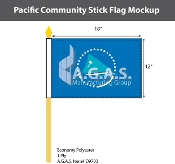 Pacific Community Stick Flags 12x18 inch
