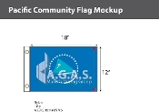 Pacific Community Flags 12x18 inch