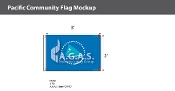 Pacific Community Flags 2x3 foot