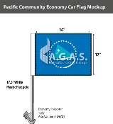 Pacific Community Car Flags 12x16 inch Economy