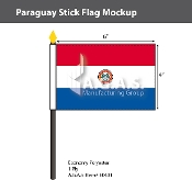 Paraguay Stick Flags 4x6 inch