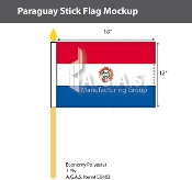 Paraguay Stick Flags 12x18 inch