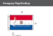 Paraguay Flags 12x18 inch