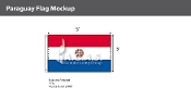 Paraguay Flags 3x5 foot