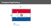 Paraguay Flags 8x12 foot