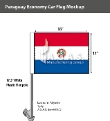 Paraguay Car Flags 12x16 inch Economy