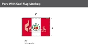Peru Flags 4x6 foot (with seal)