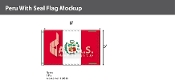 Peru Flags 5x8 foot (with seal)