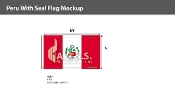 Peru Flags 6x10 foot (with seal)