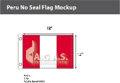 Peru Flags 12x18 inch (no seal)