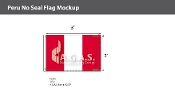 Peru Flags 2x3 foot (no seal)