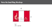 Peru Flags 4x6 foot (no seal)