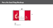 Peru Flags 6x10 foot (no seal)
