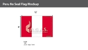 Peru Flags 8x12 foot (no seal)