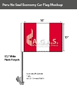 Peru Car Flags 12x16 inch Economy (no seal)