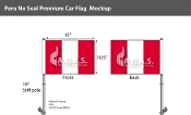 Peru Car Flags 10.5x15 inch Premium (no seal)