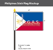 Philippines Stick Flags 4x6 inch