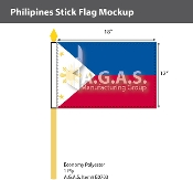Philippines Stick Flags 12x18 inch