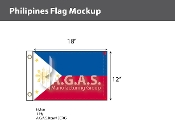 Philippines Flags 12x18 inch