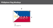 Philippines Flags 4x6 foot