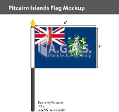 Pitcairn Islands Stick Flags 4x6 inch