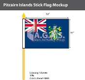 Pitcairn Islands Stick Flags 12x18 inch