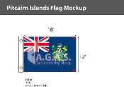 Pitcairn Islands Flags 12x18 inch