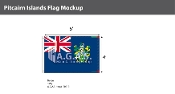 Pitcairn Islands Flags 4x6 foot