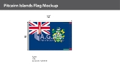 Pitcairn Islands Flags 8x12 foot