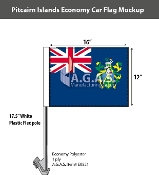 Pitcairn Islands Car Flags 12x16 inch Economy