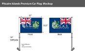 Pitcairn Islands Car Flags 10.5x15 inch Premium