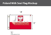Poland Flags 12x18 inch (with seal)