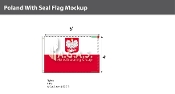 Poland Flags 4x6 foot (with seal)