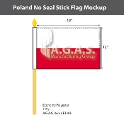 Poland Stick Flags 12x18 inch (no seal)