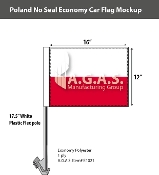 Poland Car Flags 12x16 inch Economy (no seal)