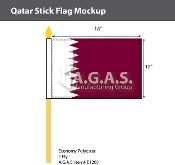 Qatar Stick Flags 12x18 inch