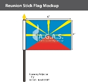 Reunion Stick Flags 4x6 inch