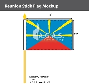 Reunion Stick Flags 12x18 inch