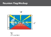 Reunion Flags 12x18 inch