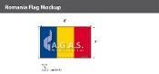 Romania Flags 5x8 foot