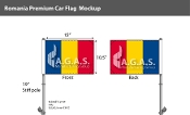 Romania Car Flags 10.5x15 inch Premium