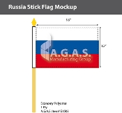 Russia Stick Flags 12x18 inch