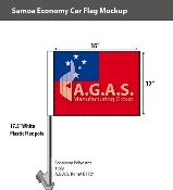 Samoa Car Flags 12x16 inch Economy