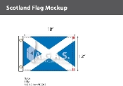 Scotland Flags 12x18 inch