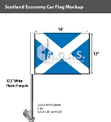 Scotland Car Flags 12x16 inch Economy