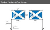 Scotland Car Flags 10.5x15 inch Premium