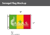 Senegal Flags 12x18 inch