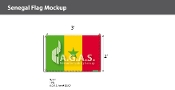 Senegal Flags 2x3 foot