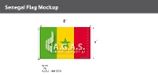 Senegal Flags 5x8 foot