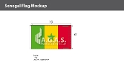 Senegal Flags 6x10 foot